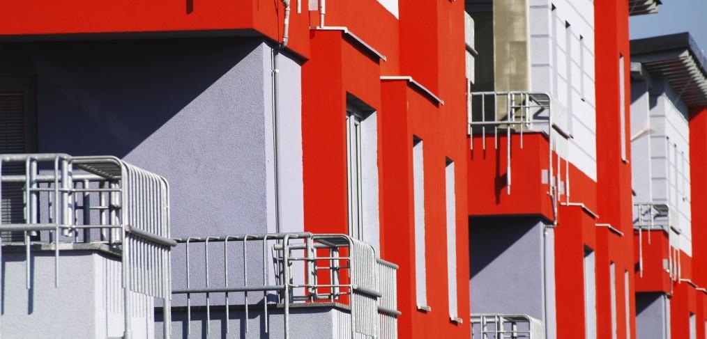 Smet Building Products Ltd -Orange Render Facade