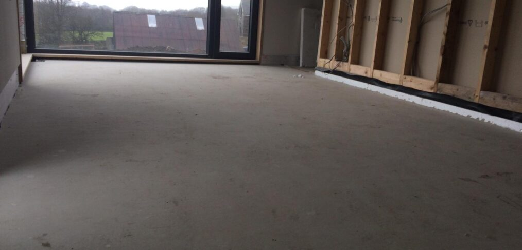 SMET supplied SMET LiteFlo® Lightweight Flowing Screed for a timber suspended floor, in a self-build set in the idyllic district of Ballymena