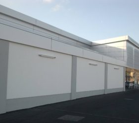 Lidl Kilcock Render Facade Solution Bauprotec 850M and Bauprotec RHS