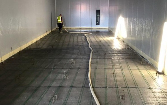 UFH Screed for Blast Chill Facility, DC Poultry, Rathcoole