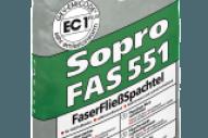 Sopro FAS 551 – Fibre Reinforced Self-Levelling Filler