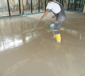 Sopro Rapidur® FE _tamping the screed@ SMET