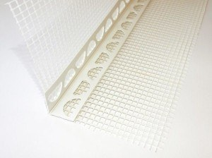 Flexible corner with mesh, 100 x100 mm, from 45° to 150° usable, no waste!