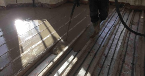 Floor Renovation with SMET LiteFlo® in Dalkey Co Dublin & LiteFlo® lightweight CA Floor Screed | 30% lighter than normal screed
