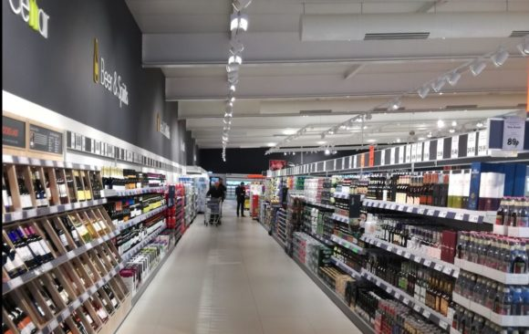 Lidl Lowestoft UK, interior new concept store