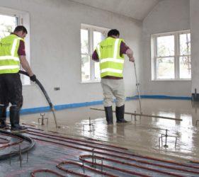 Factory produced, pump applied Sudanit 280 Alpha Hemihydrate Floor Screed_by Fast Floor Screed Ltd