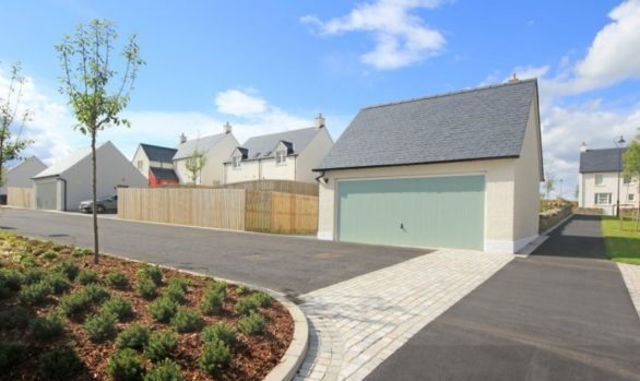 Carnhill Lane _Chapelton_paving and streetscape by WM Donald