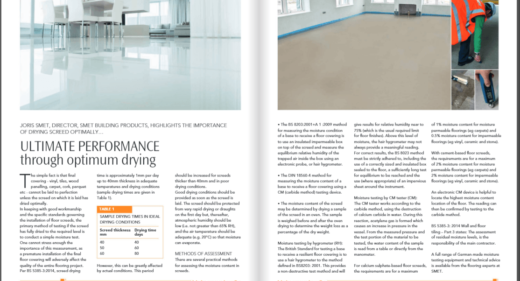 SMET Optimum Drying Floor Screed_ Northern Builder no. 4 2017