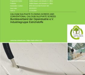 Calcium Sulphate flowing screed EPD_contact SMET for more info