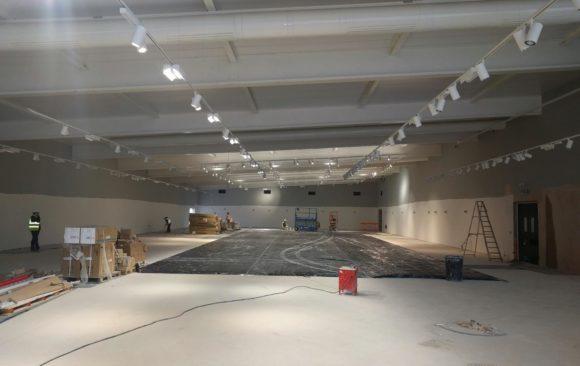 Lidl Gainsborough construction by Gelder Ltd_interior
