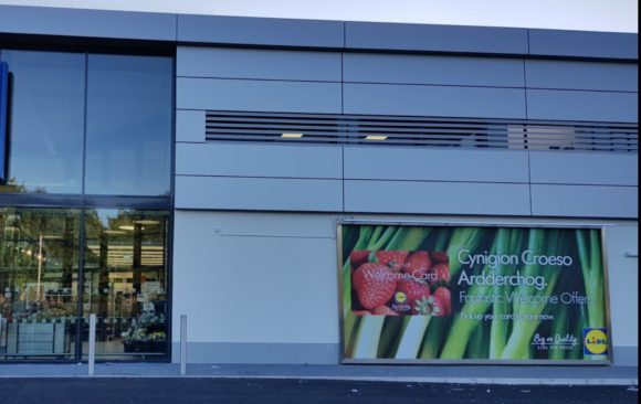 Lidl Portmadog Wales, Bauprotec Render system in construction, available from SMET
