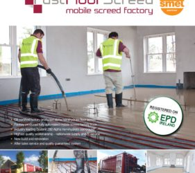 Fast Floor Screed's EPD registered on EPD Ireland