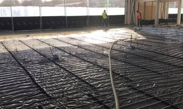 Fast Floor Screed Ltd_ 920m2 Land Rover Jaguar showroom Cork with Summerhill Construction.