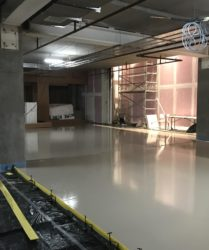 Fast Floor Screed_interior bays_ Jervis Street with our new Raddiplus Rapid Screed