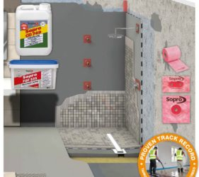 SMET Tanking and Waterproofing systems for wetrooms and showers