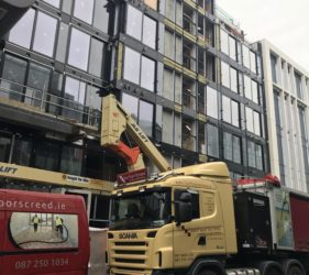 Cairn Plc in Hanover quay_alpha hemihyfrate screed_apartments- Fast Floor Screed