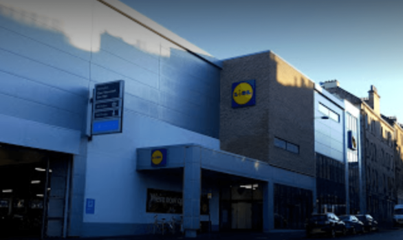 Lidl Easter Road_ SMET Render system Bauprotec applied by AFS (Scotland) Ltd