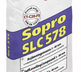 Sopro SLC 578 is available from Smet Building Products in the UK and ROI