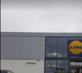 Lidl Peterborough, Adston main contractor, render system supplied by SMET