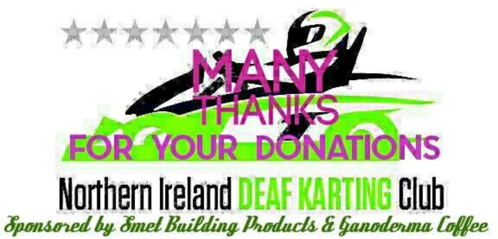 Northern Ireland Deaf Karting Club 2016 for France Euronations on Saturday 11th June