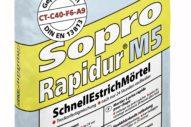 Sopro Rapidur® M5 – Rapid Drying Floor Screed