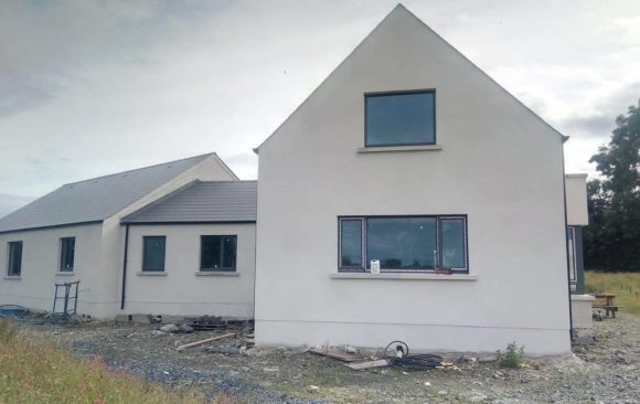 CT Plastering Machine Applied _Bauprotec 850 M_lime cement render_new build