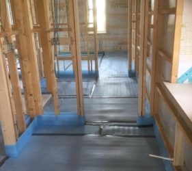 First floor Timberframe with Fast Floor Screed Acoustic solution _layer over 40 mm Alpha Liquid Screed