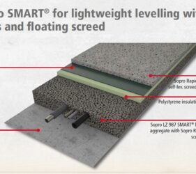 SMART® System for lightweight levelling with insulation and UFH