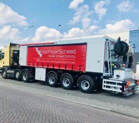 Fast Floor Screed Ltd fleet of Mobile Screed Factories_