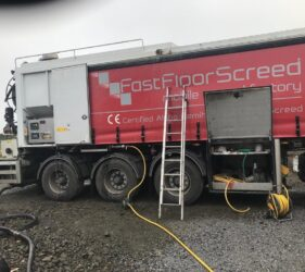 Fast Floor Screed Mobile screed factory on-site