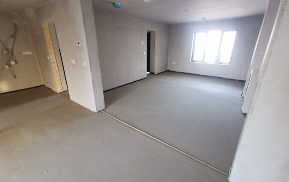 castleoaks carlow_alpha hemihydrate liquid screed_after_fast Floor Screed ltd