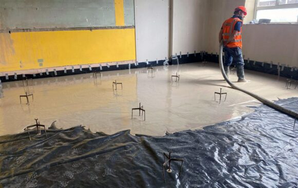 Floor Screed Ireland | for Vision Contracting | Our Lady Of Crumlin School | LiteFlo® Lightweight Screed